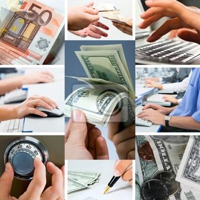 Collage conceptuel d'affaires