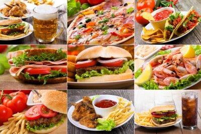 collage de la restauration rapide