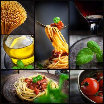 Image collage de pâtes