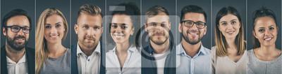 Image Collage de portraits d'hommes d'affaires ethniquement divers.