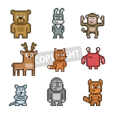 Image Collection Dart De Pixel Des Animaux Mignons Et Drôles