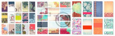 Image collection de carte de visite ornement floral coloré