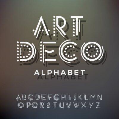 Image collection de lettres d'alphabet, de style art déco
