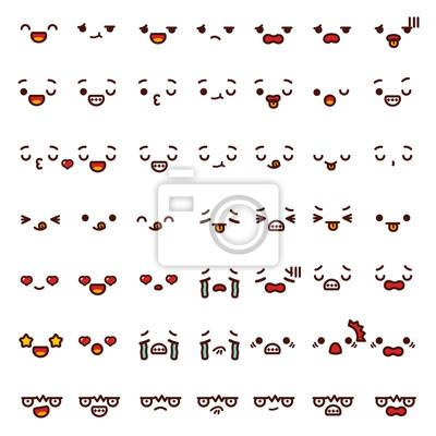 Collection De Mignon Cute Emoticon Emoji Doodle Dessin Anime