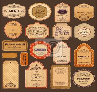 Collection de vecteur: étiquettes vintage et rétro