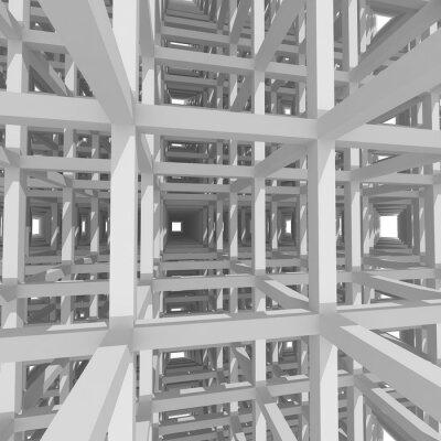 Image Colonnes et les poutres, l'architecture 3d fond.