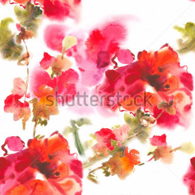 Image Color illustration of flowers in watercolor paintingsAlbum