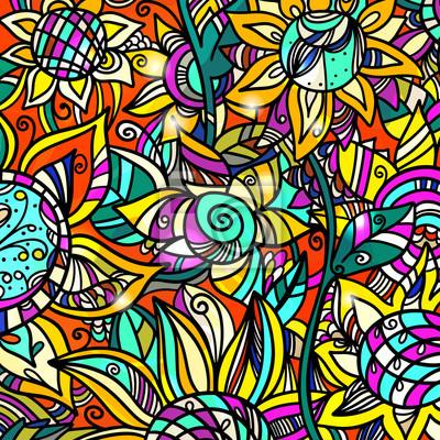 Coloré, résumé, floral, fond