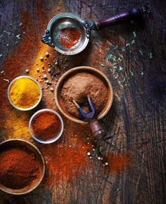 Image Colorés épices moulues séchées