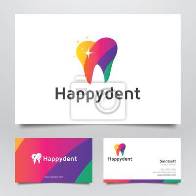 Image Colorful Dentaire Avec Les Stars Logo Et Carte De Visite