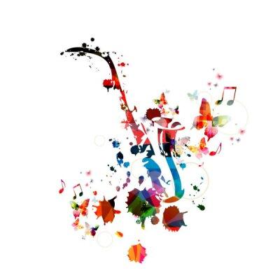 Image Colorful fond de musique avec le saxophone
