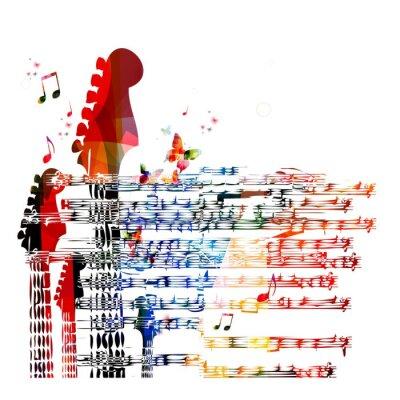 Image Colorful fond de musique de guitare. Vecteur