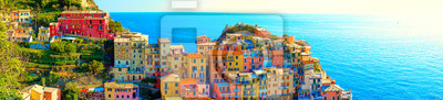 Image Colorful houses of Manarola, a beautiful village in