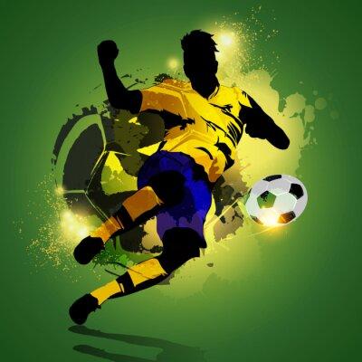 Image Colorful joueur de soccer tir