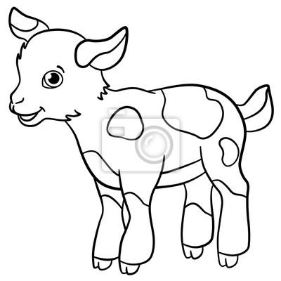 Coloriages Animaux De La Ferme Petits Sourires Mignons De Goatling