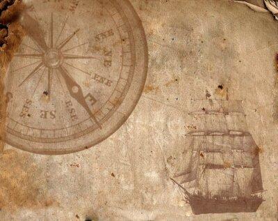 Image Compass sur le vieux papier