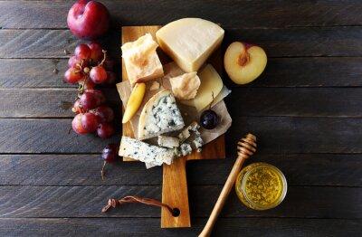 Image Composition de fromage foncé