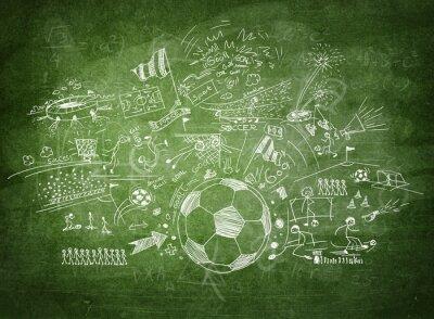 Image Concept de football Blackboard
