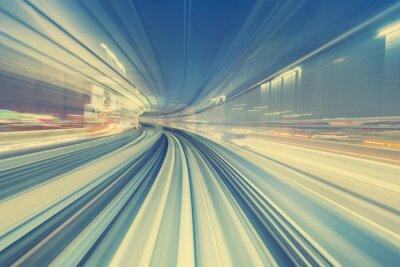 Image Concept de technologie à haute vitesse via un monorail de Tokyo