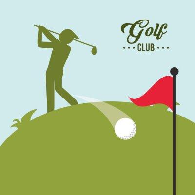 Image Conception d'icônes de golf