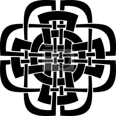 Conception De Croix Celtique Tatouage Peintures Murales Tableaux
