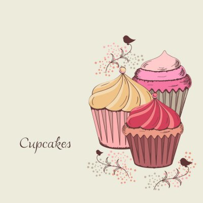 Image conception de petit gâteau