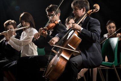 Image Concert de musique classique: orchestre symphonique sur scène