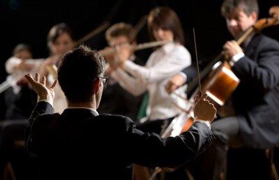 Image Conducteur de diriger l'orchestre symphonique