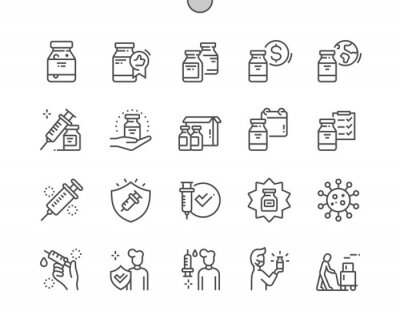 Image Coronavirus vaccine Well-crafted Pixel Perfect Vector Thin Line Icons 30 2x Grid for Web Graphics and Apps. Simple Minimal Pictogram