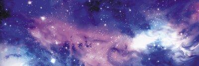 Image Cosmos bannière avec étoiles