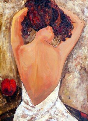 Image Côté opposé d'une beauté (peinture à l'huile)