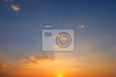 Coucher de soleil fond ciel