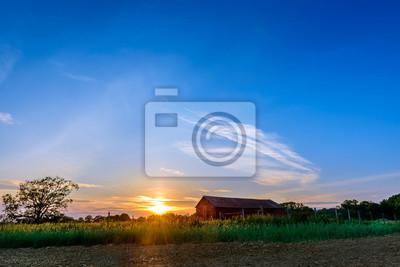 Image Coucher de soleil sur une ferme du Maryland