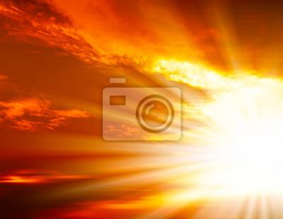 coucher du soleil dans la mer ouverte