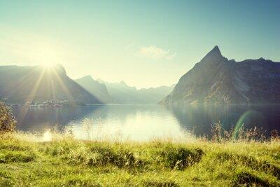 Image Coucher du soleil dans les îles Lofoten, Norvège