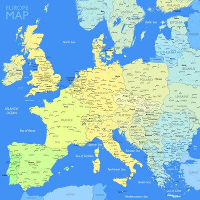 Image Couleur de la carte l'Europe