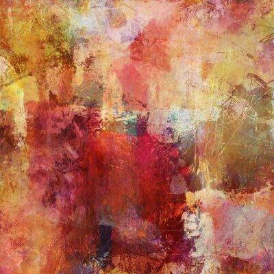 Image couleurs de peinture d'automne de médias mélangés
