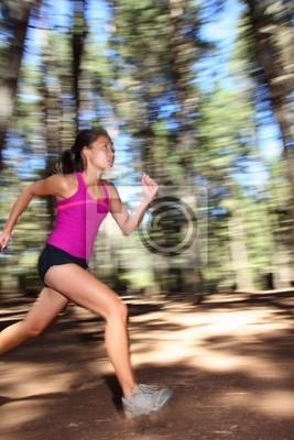 Courir dans la forêt à la vitesse
