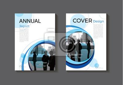 Couverture Bleue Couverture De Livre Moderne Resume Brochure