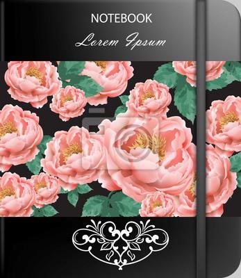 Couverture De Page Vintage Rose Fleurs Ou Couverture De Portable