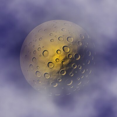 crater moon on clouds sky backgrounds