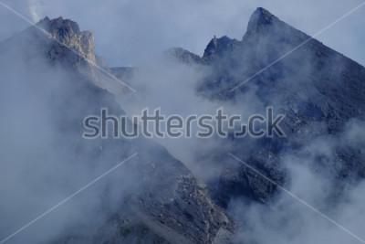 Image Cratère du mont Merapi. Sleman Yogyakarta, Indonésie.