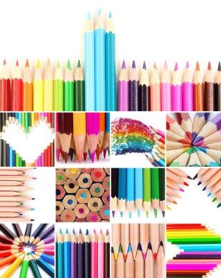 Image Crayons de couleur collage