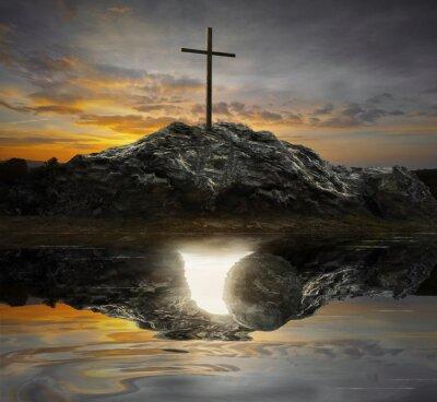 Image Croix et tombe vide