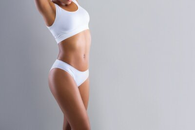 Image Cropped of black woman demonstrating her beautiful body