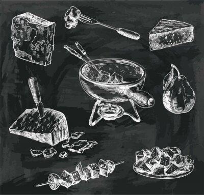 Image Croquis de fondue au fromage
