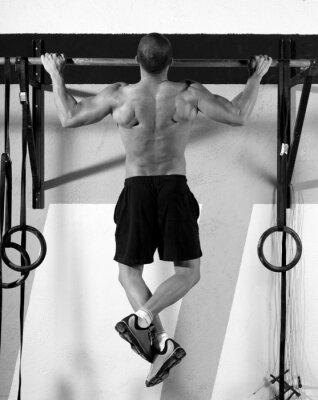 Image CrossFit orteils pour barrer homme pull-ups 2 bars entraînement
