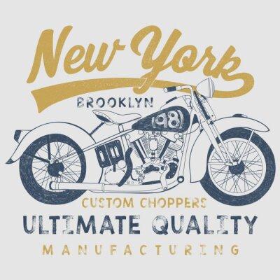 Image Cru, moto, croquis, Illustration, typographie