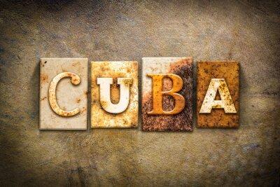 Image Cuba Concept Typographie cuir Thème