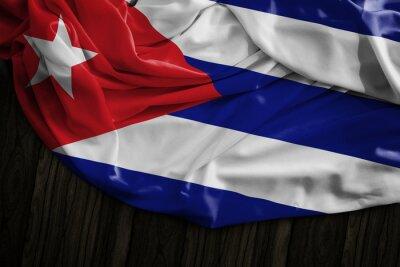 Image Cubain, drapeau, bois, table